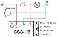 Hervorragend Nachlaufrelais anschließen, Taster statt Lampe Ersatzteilversand DB94