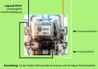 Stromstossschalter Anschlussprobleme Bei Ersatz Eines 40 Jahre Alten Legrand 49107 Ersatzteilversand Reparatur